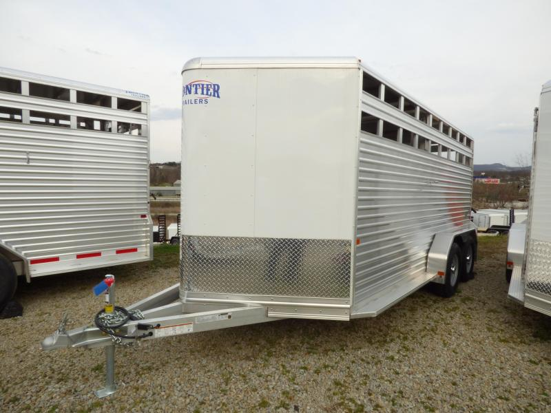NEW 2017 Frontier 7'W X 16'L ALUMINUM  Stock Trailer