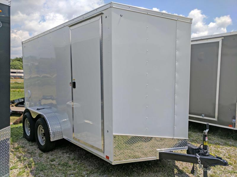 NEW 2018 Cargo Express 6X12 Tandem Sloped V-Nose w/ Ramp Door