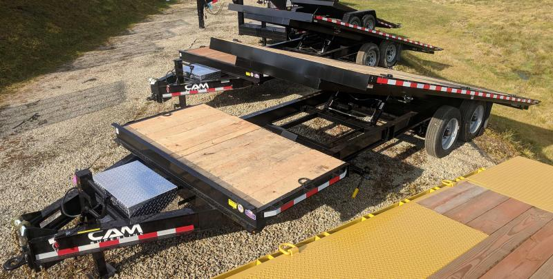 NEW 2018 CAM 24' HD (4+20) Deckover Split Tilt Trailer (18400# GVW)