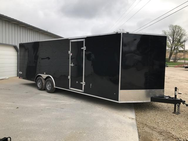 2018 Stealth Trailers 8.5X24 TITAN SE Enclosed Cargo Trailer 10G GVW 4-D RINGS BEAVERTAIL BLACK