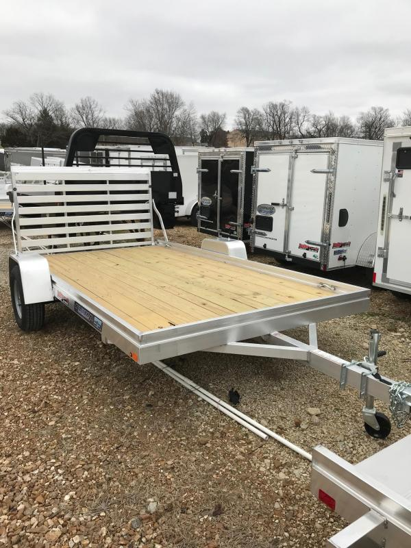 2018 Aluma 7812 EDGE SERIES WITH WOOD FLOOR Utility Trailer