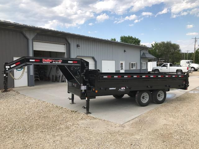2017 Load Trail 96X16 DECKOVER FOLD DOWN SIDES Dump Trailer