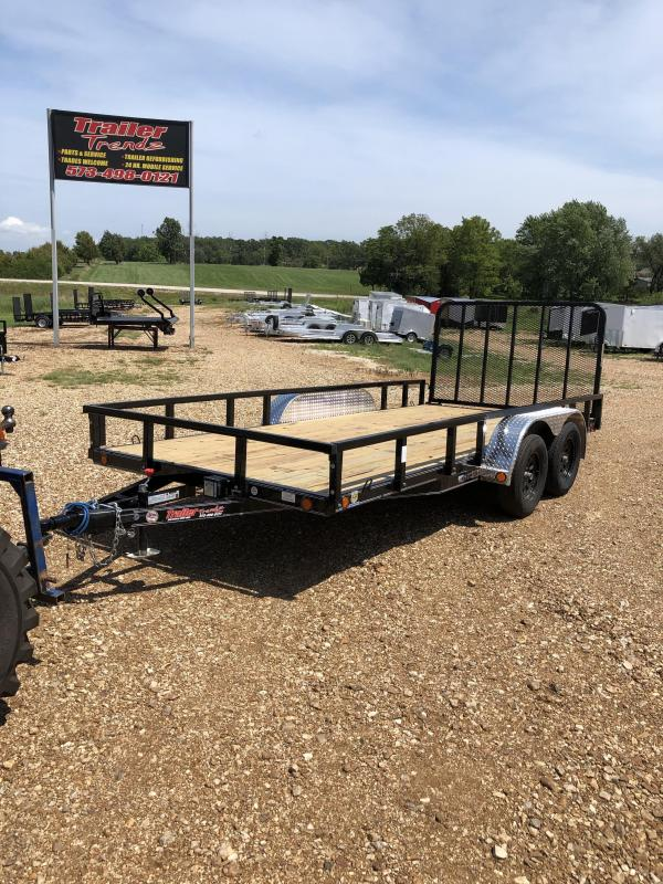 2020 Load Trail 83X16 LOADTRAIL 4' REAR GATE 4 U HOOKUP BLACK Utility Trailer
