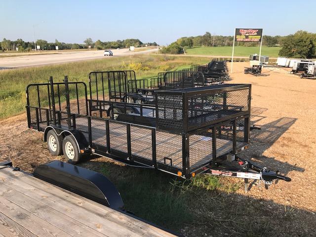 2017 Load Trail LT8320 Utility Trailer LANDSCAPE 7K GVW 4' TUBE GATE TOOL BOX 24