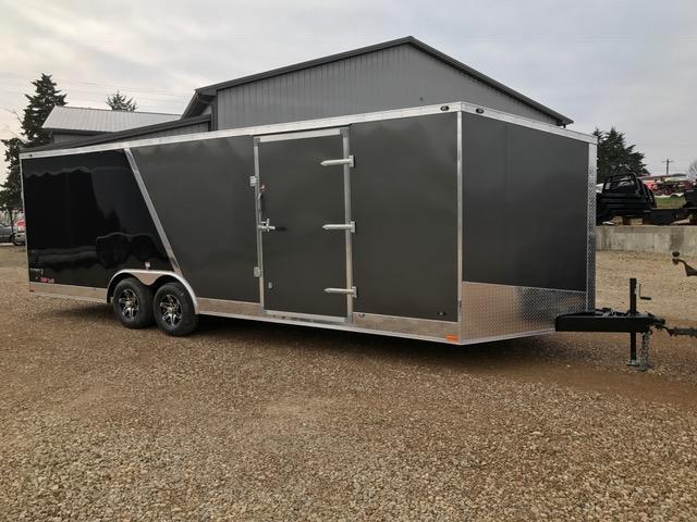 2018 Stealth Trailers 60977 Enclosed Cargo Trailer 8.5'X 24' SE 10K GVW ALUM WHEELS GRAY/BLACK