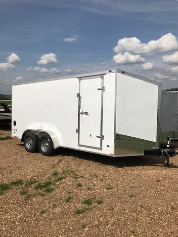 2018 Stealth Trailers 63578 Enclosed Cargo Trailer 7' X 16' TITAN SE WHITE 6'6
