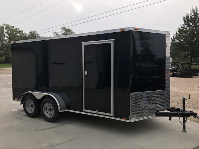 2017 TRAILER TRENDZ 7X14 Black Enclosed Cargo Trailer