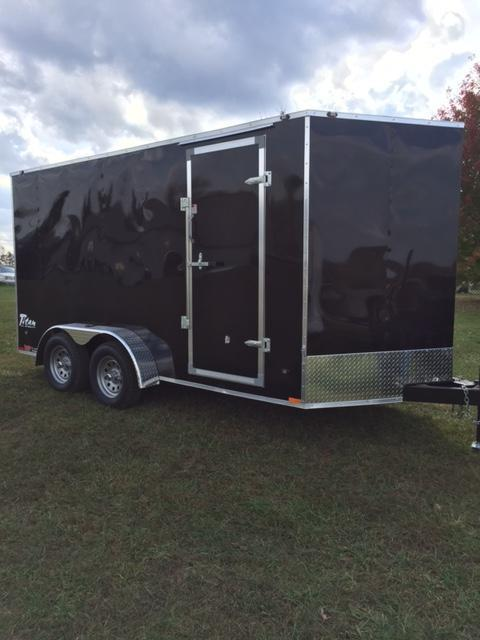 2017 Stealth Trailers 58103 Enclosed Cargo Trailer Black 7 x 14 6
