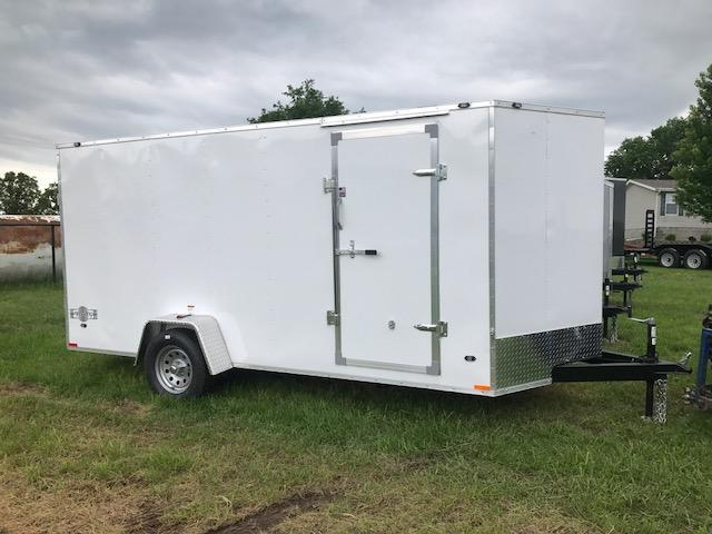 2018 Stealth Trailers MUSTANG Enclosed Cargo Trailer 6' X 14' SIDE/RAMP DOOR WHITE
