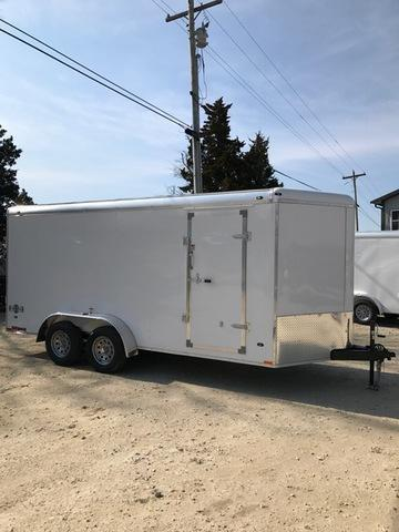 2018 Stealth Trailers 61389 Enclosed Cargo Trailer 7' X 16' TANDEM WEDGE FRONT ROUND TOP RAMP DOOR 6