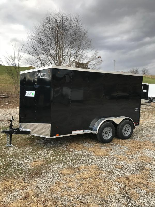 2018 Look Trailers 6X12 ELEMENT ST DLX 7K TANDEM AXLE Enclosed Cargo Trailer