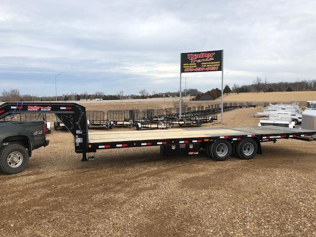 2018 Load Trail 102X28 LOW PRO HYD DOVE AND JACKS Flatbed Trailer