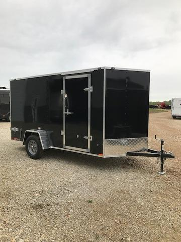 2018 Stealth Trailers 61370 Enclosed Cargo Trailer 6' X 12' MUSTANG BLACK DOUBLE REAR DOORS