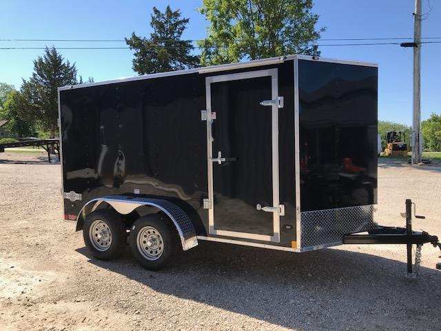 2018 Stealth Trailers STET612TA2 Enclosed Cargo Trailer 6' X 12' 7K GVW RAMP DOOR SIDE DOOR BLACK