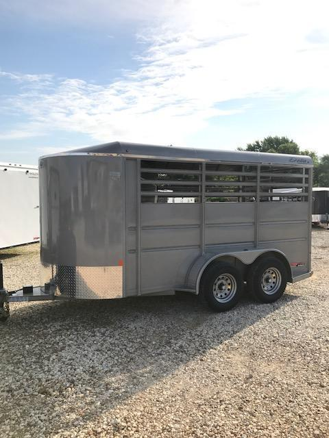 2017 Delta Manufacturing BUMPER HORSE Livestock Trailer 6' X 14' 7K GVW 2 HORSE SILVER