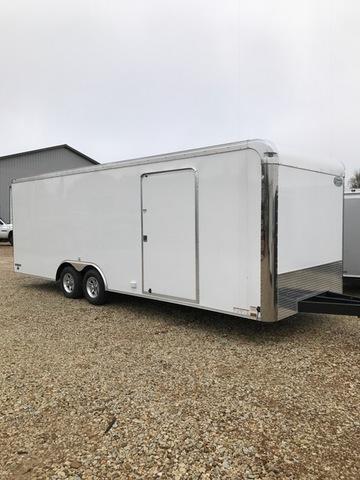 2018 Continental Cargo 84824 Enclosed Cargo Trailer 8.5' X 24' 10K GVW 7' TALL WHITE