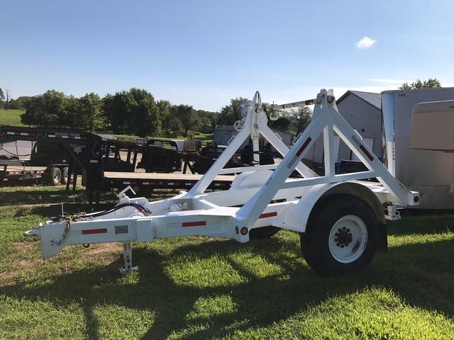 USED 1989 Butler Reel Trailer Equipment Trailer 15K 1 Brake On Wire Axle Up To 8' Reel Air Brake Axle