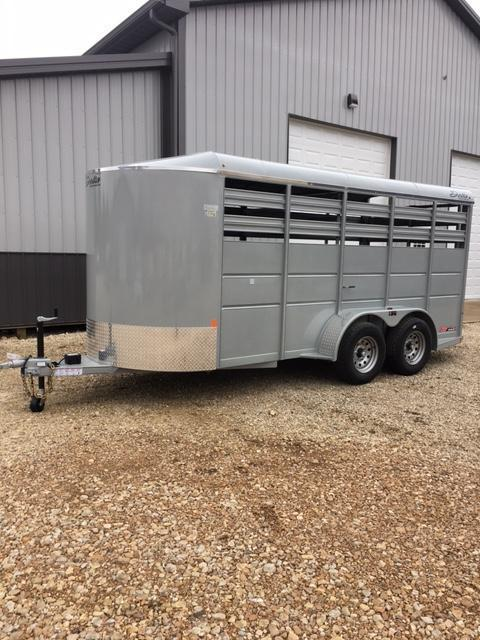 2017 Delta Manufacturing 41278 Livestock Trailer 6' X 16' 6'6