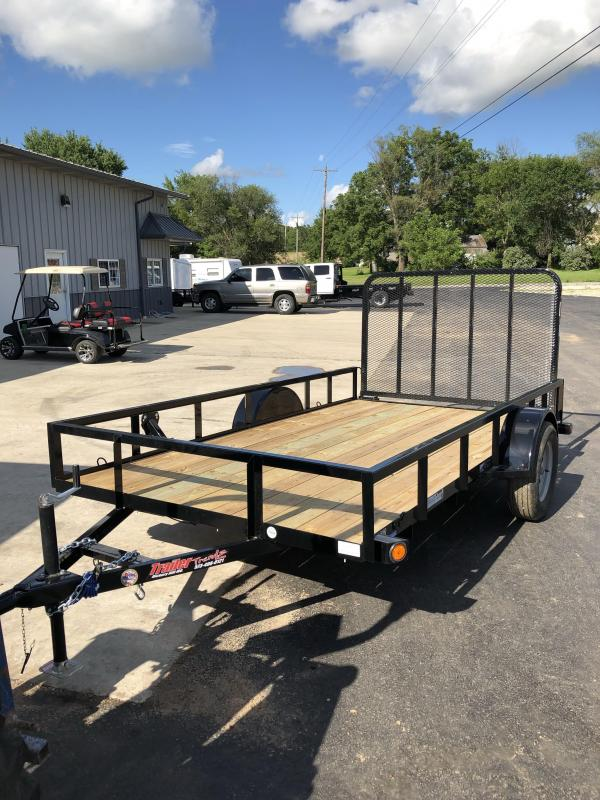 2019 Load Trail 77X12 LAODTRAIL UTILITY 4' GATE BLACK Utility Trailer