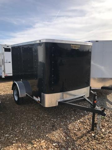 2018 Continental Cargo 84809 Enclosed Cargo Trailer 5' X 8' SINGLE REAR DOOR BLACK