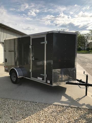 2018 Continental Cargo 85424 Enclosed Cargo Trailer 6' X 12' GRAY RAMP DOOR