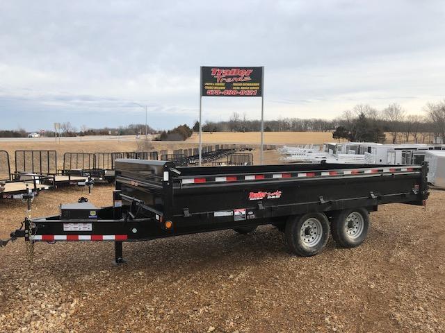 2018 Load Trail 96X16 14K FOLD DOWN SIDES DECKOVER Dump Trailer