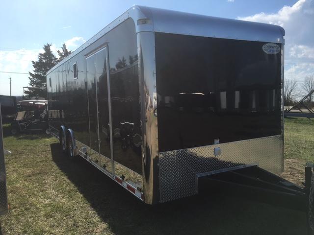 2018 Continental Cargo 84822 Enclosed Cargo Trailer 8.5' X 28' SUPER STOCK PKG BLACK