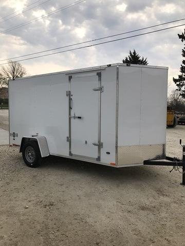 2018 Stealth Trailers 61554 Enclosed Cargo Trailer 6' X 12' RAMP DOOR WHITE