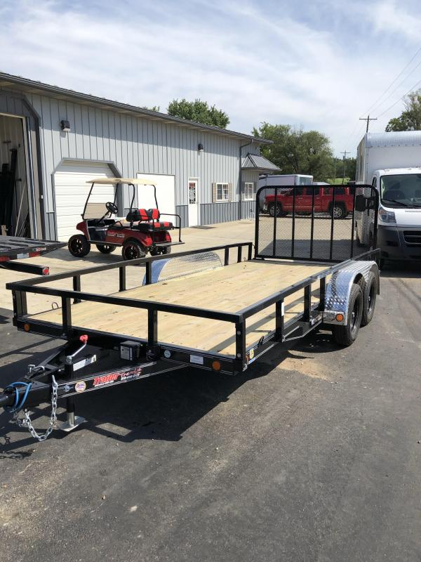 2020 Load Trail 83X16 LOADTRAIL UTILITY 4' REAR GATE 4 U HOOKS Utility Trailer