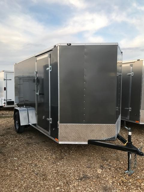 2017 Stealth Trailers 58997 Enclosed Cargo Trailer 6' X 12' TITAN RAMP DOOR METALLIC CHARCOAL