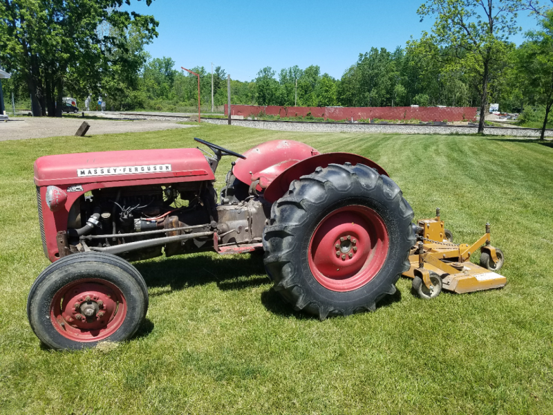 1953 Massey Ferguson 1953 Massey Ferguson TO30 With Woods Mower Lawn