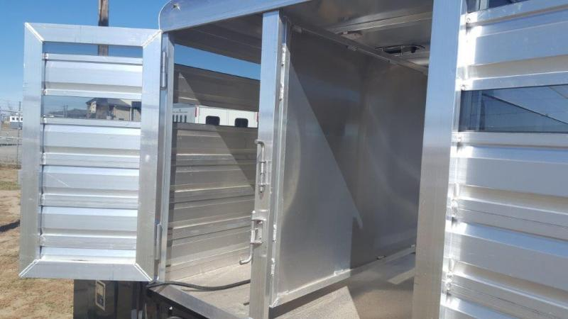 2017 Exiss Trailers Stock Box for Pickup Livestock Trailer