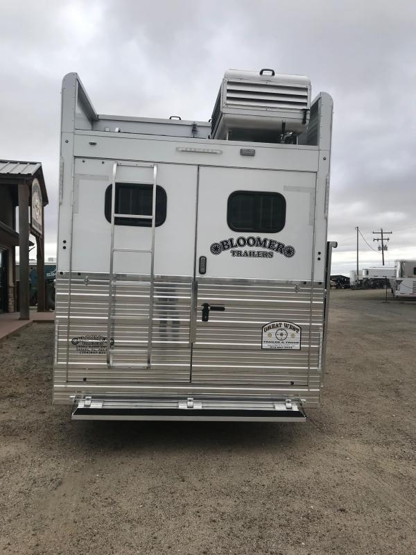 2018 Bloomer Trailer Manufacturing 14.5ft SW SO 4H PC Load Horse Trailer