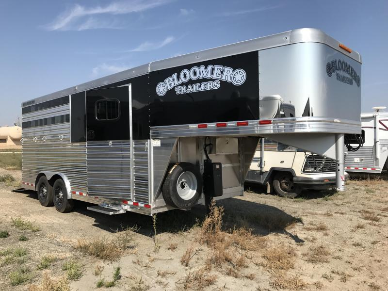 2018 Bloomer Trailer Manufacturing 3 Horse with Dressing Room Horse Trailer