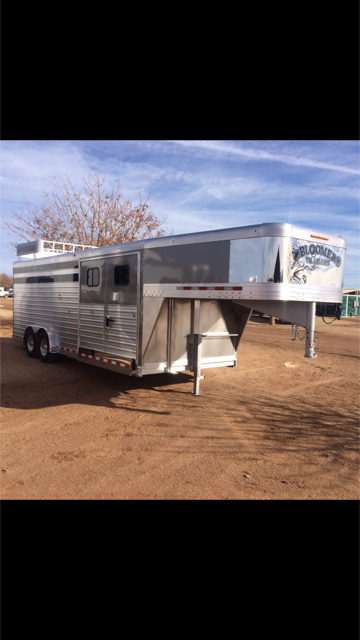 2018 Bloomer Trailer Manufacturing 4 Horse Stock Combo Trainers Trailer