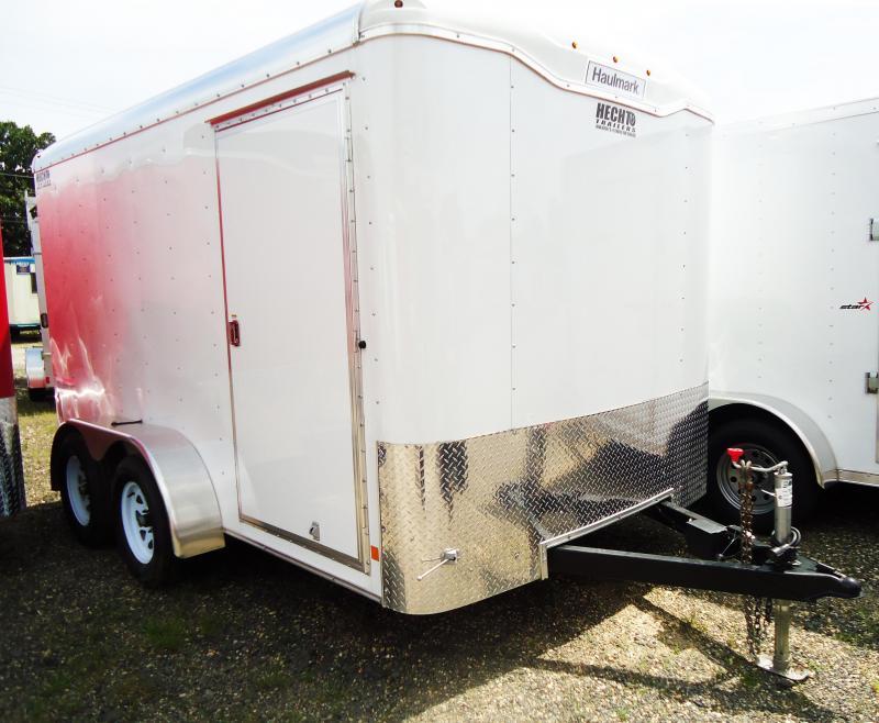 2017 Haulmark 7X12 TST WT2 RAMP WHITE Enclosed Cargo Trailer