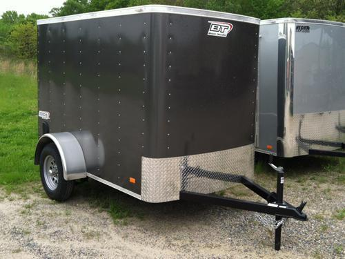 2017 Bravo Trailers 5X8SC SA APP CHARCOAL Enclosed Cargo Trailer