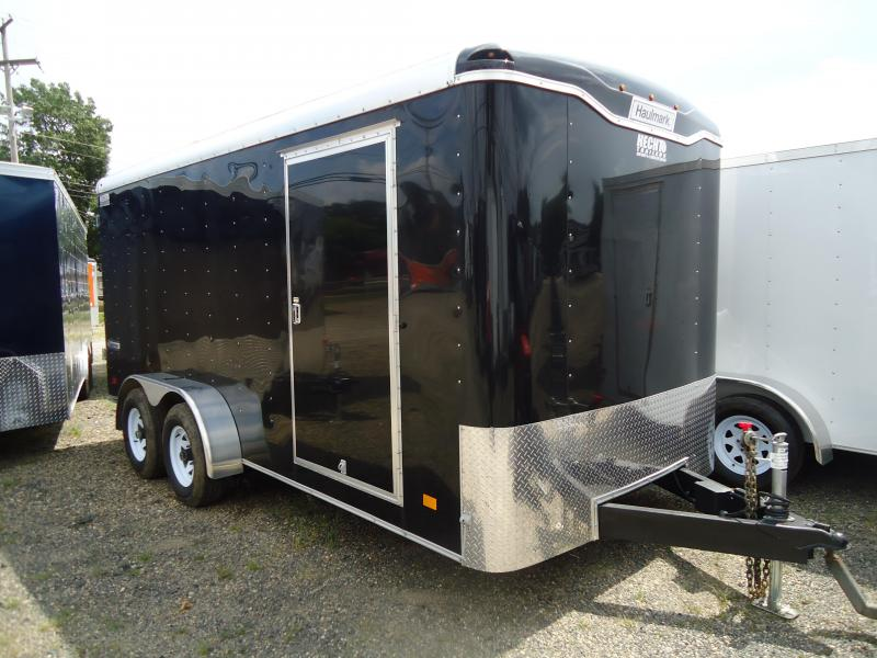 2017 Haulmark 7x16 TST W3 BLACK Enclosed Cargo Trailer
