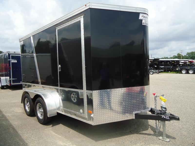 2016 Haulmark 7X12 TSTV WT2 MC PKG BLACK Enclosed Cargo Trailer