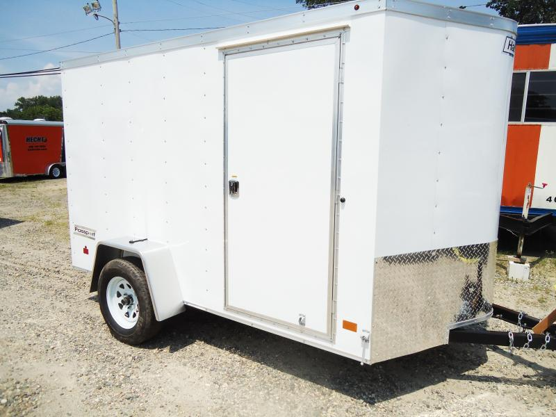 2018 Haulmark 6X10 PPT DS2 RAMP WHITE Enclosed Cargo Trailer