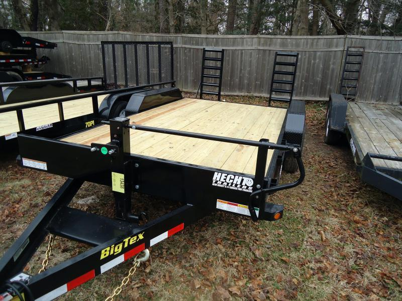 2018 Big Tex Trailers EH 7X18 14ET 18BK KR KNEE RAMPS BLACK Equipment Trailer