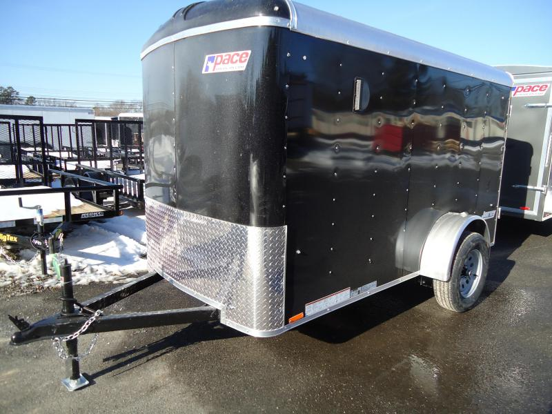 2018 Pace American 5X10 JT SI2 RAMP SVNTS DRNG BLACK Enclosed Cargo Trailer
