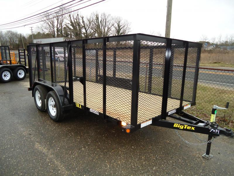 2018 Big Tex Trailers UT 6.5X14 50LA 14BK 4RG 4' EXP METAL SIDES BLACK Utility Trailer