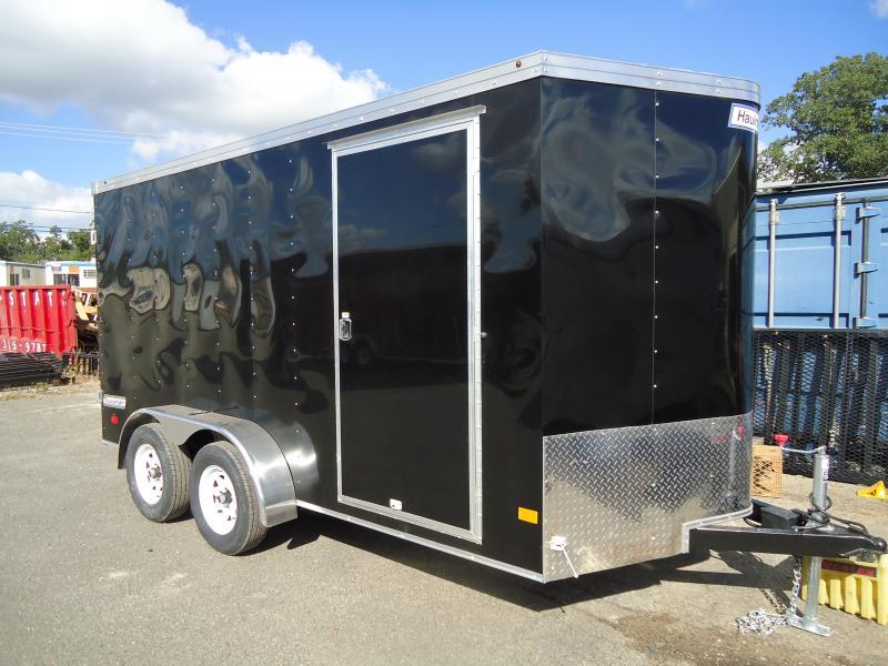 2018 Haulmark 7X14 TSTV WT2 BLACK Enclosed Cargo Trailer