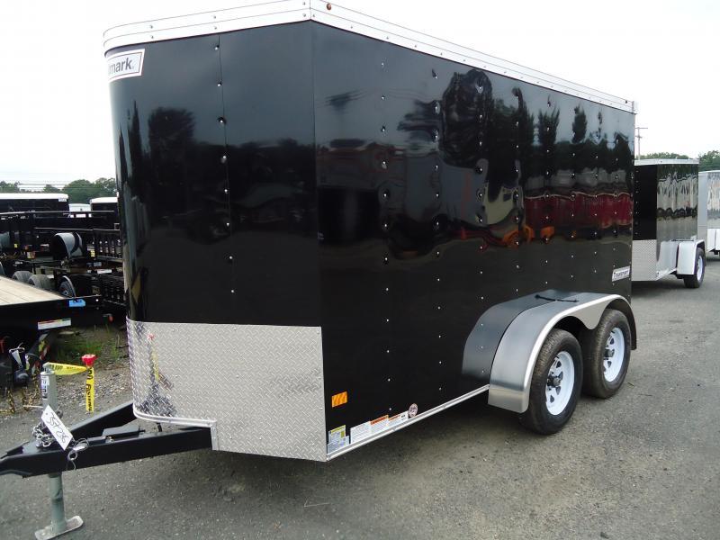 2018 Haulmark 6X12 TSTV DT2 RAMP BLACK Enclosed Cargo Trailer