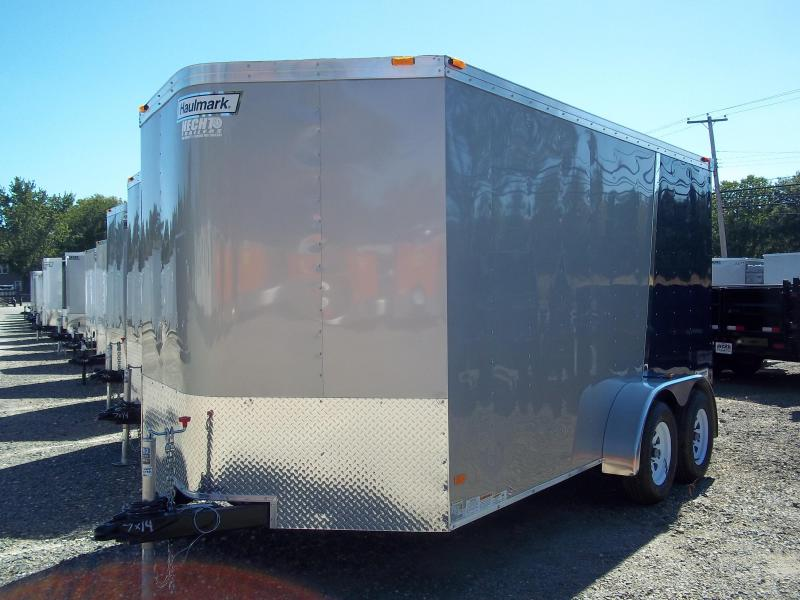 2017 Haulmark 7X14 TSTV WT2 RAMP SILVERBLUE Enclosed Cargo Trailer