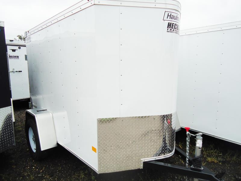2017 Haulmark 5X8 TSTV DS2 SPAREMOUNT WHITE Enclosed Cargo Trailer