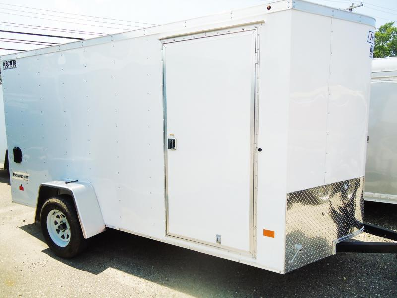 2018 Haulmark 6X12 PPT DS2 SVNTS STAB JCKS SPARE RAMP WHITE Enclosed Cargo Trailer