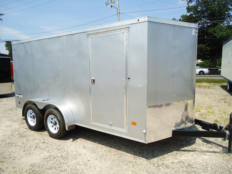 2017 Haulmark 7X14 PPT DT2 RAMP SILVER Enclosed Cargo Trailer
