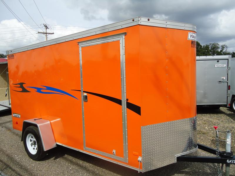HAULMARK 6X12TSTV DS2 Orange Enclosed Cargo Trailer
